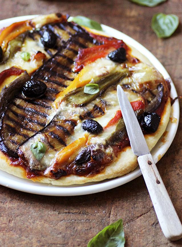 Pizza légumes grillés