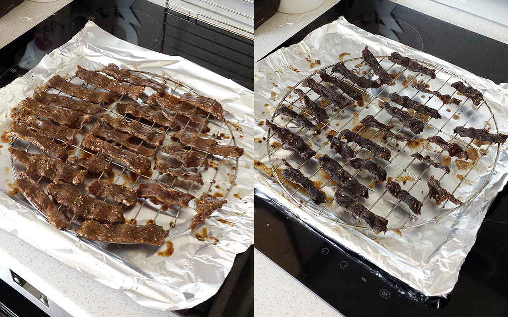 beef jerky cuisson